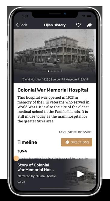 Fijian History iOS App Collection Screen